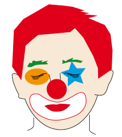 Clownsparty Clownsgesichter Schminken Luftballons