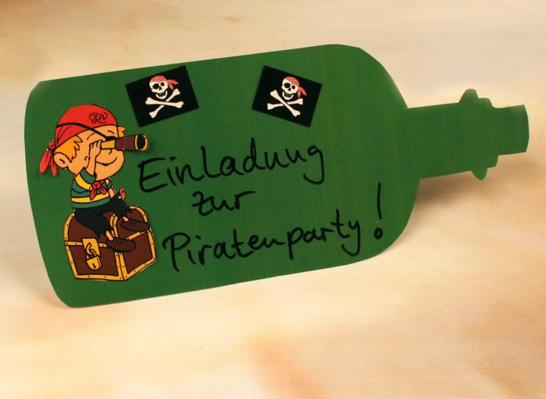piratenparty zum kindergeburtstag: einladung & vorlagen », Einladung