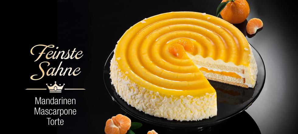 Feinste Sahne Mandarine Mascarpone Torte
