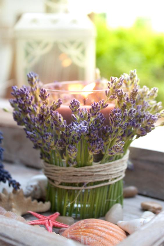 Lavendel Tischdeko  Selbermachen  Pinterest