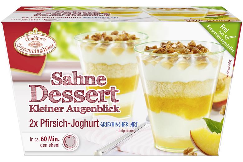 Sahne Dessert Pfirsich Joghurt Nach Griechischer Art