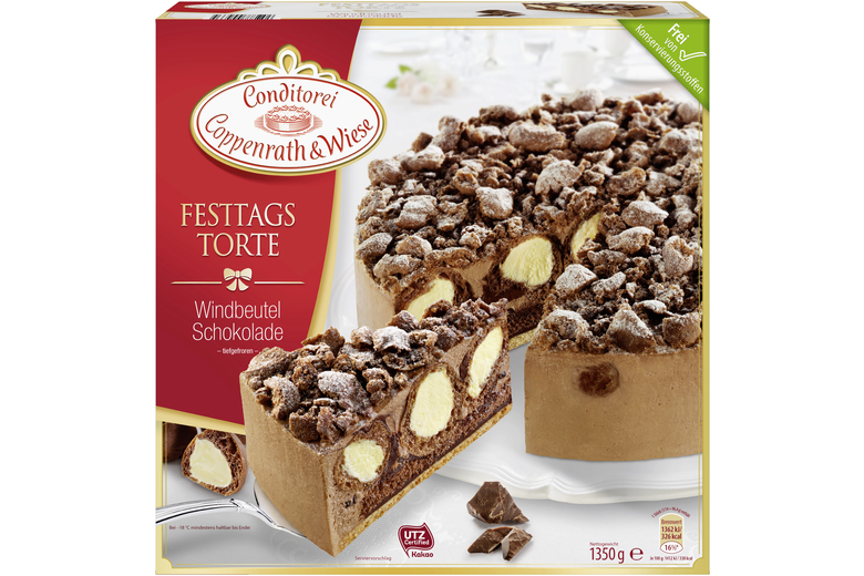 Festtagstorte Windbeutel Schokolade Von Coppenrath Wiese Torte