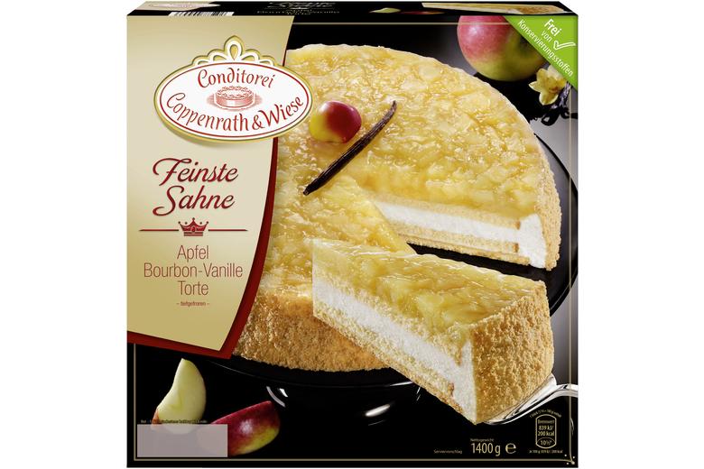 Coppenrath Wiese Apfel Bourbon Vanille Torte 1 400g Murbeteig