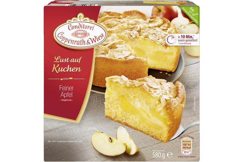 Feiner Apfelkuchen Von Coppenrath Wiese Puderzucker Mandeln