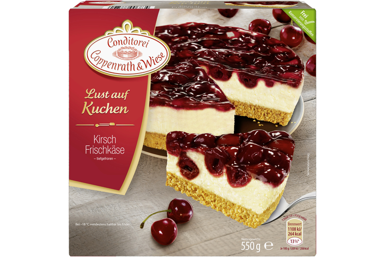 Kirsch Frischkase Kuchen Mit Frischkasecreme Coppenrath Wiese