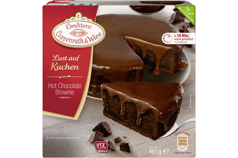 Hot Chocolate Brownie Kuchen Von Coppenrath Wiese Warm Geniessen
