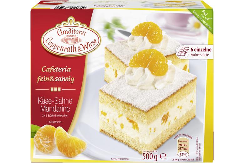 Kase Sahne Mandarinen Kuchen Von Coppenrath Wiese