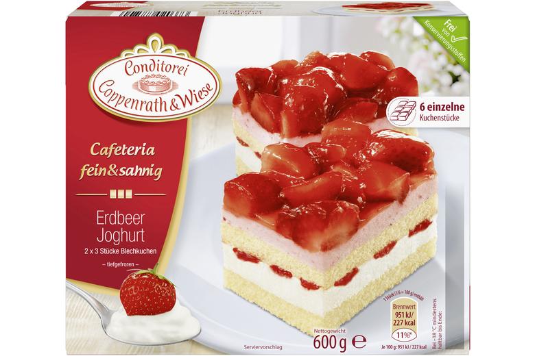 Erdbeer Joghurt Kuchen Schnitten Von Coppenrath Wiese